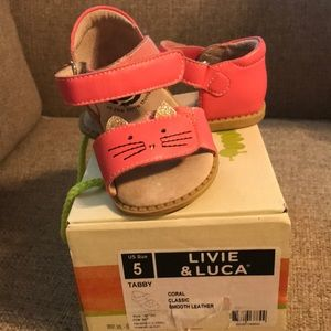 Livie and Luca coral sandal